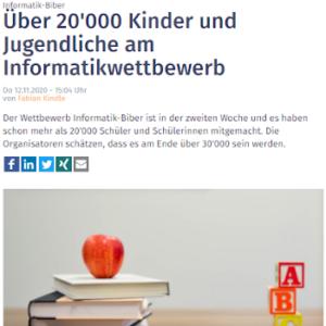 Über 20'000 Kinder und Jugendliche am Informatikwettbewerb