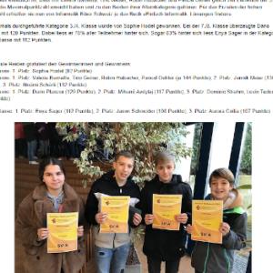 Reidner Schüler gewinnen Informatik-Wettbewerb mit Höchstpunktzahl